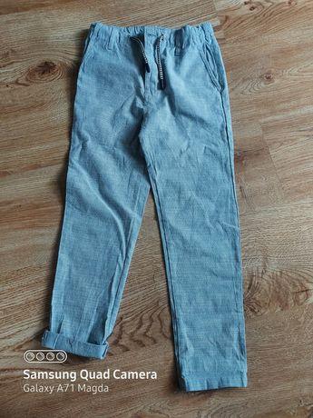 Eleganckie spodnie nowe bawełniane 128cm
