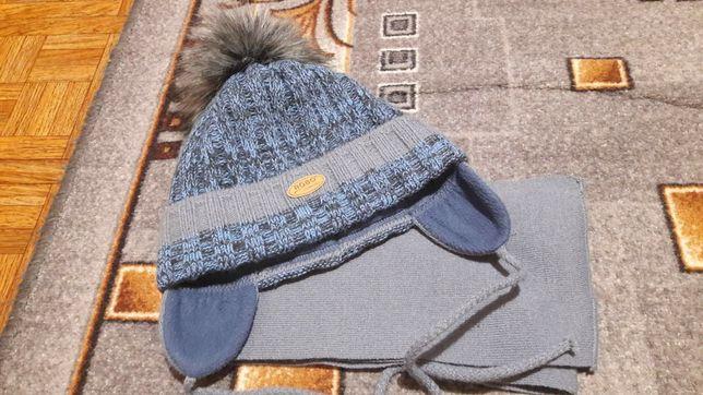 Комплект зимний Agbo шапка+шарф для мальчика 4-6 года