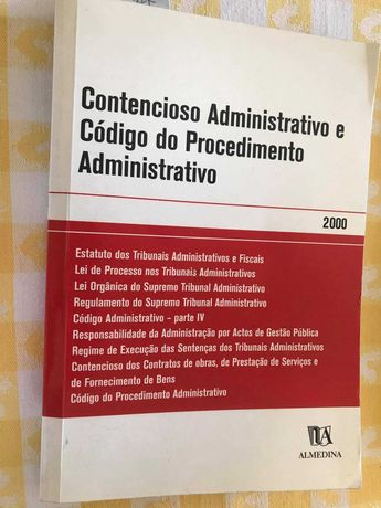 Livro Contencioso Administrativo e Cod do Procedimento Administrativo
