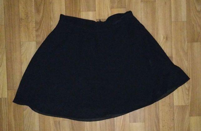 Школа Черная юбка – полусолнце Плотный шифон Очень красивая праздник