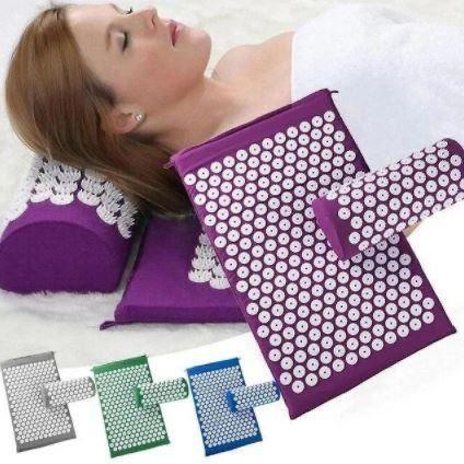 Ортопедичний масажнийкилимок з подушкою