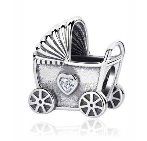 Charms PANDORA srebro 925 dziecko wózek noworodek miłość mama okazja t