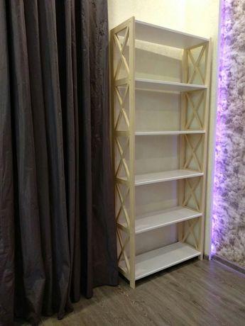деревянный стеллаж Прованс, этажерка цвет (белый, венге, мята, ваниль)