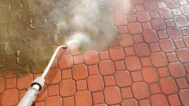 Mycie, czyszczenie kostki brukowej
