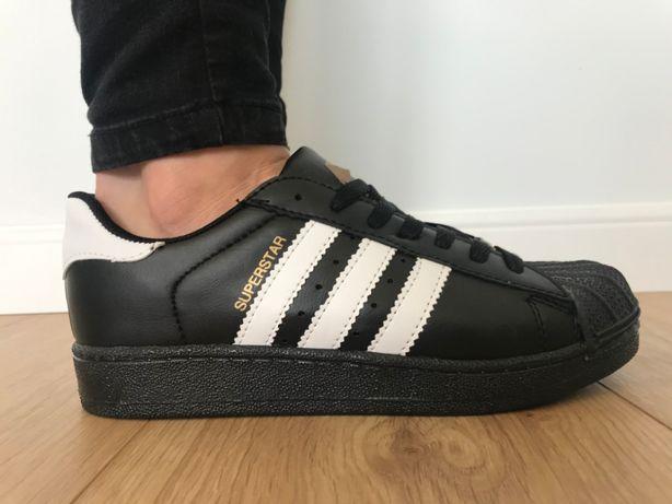 Adidas Superstar. Rozmiar 38. Czarne - Białe paski. Super cena!