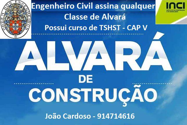 Assinatura Alvará Construção - Eng Civil Sénior Inscrito na Ordem