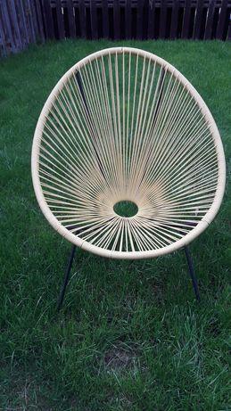 Fotel krzesło wypoczynkowe ogrodowe tarasowe balkonowe makaran