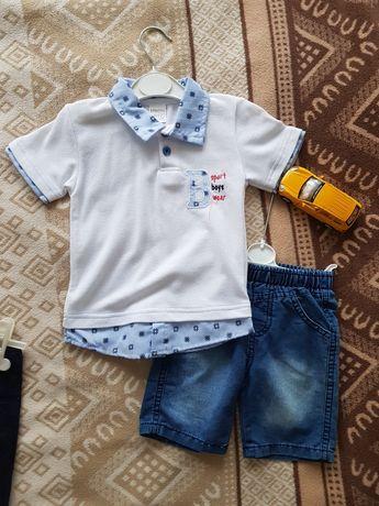 Летний комплект шорты+футболка/24мес/92см/150гр