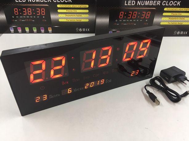 АКЦИЯ! Часы настенные электронные LED светодиодны часы будильник