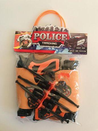 Игрушечный пистолет, набор пистолетов с присосками, полицейский набор.