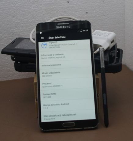 Samsung Galaxy Note 3 pudełko ładowarka S-pen czarny+ 3 pokrowce
