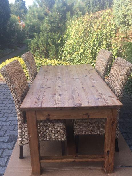 Duży stół 180 x 90 z litego drewna, stan bardzo dobry