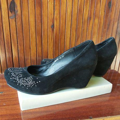 Туфли натуральные кожа замша