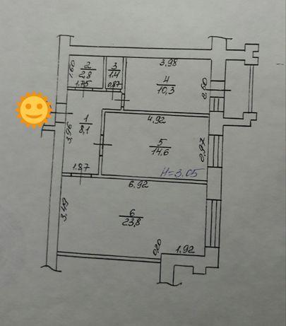 Продам 63 кв.м с капремонтом в новострое м.Героев Труда