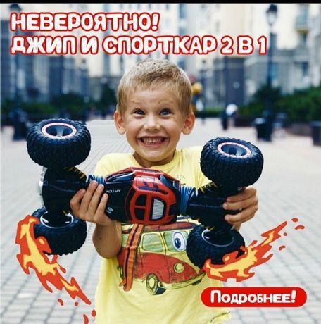 машинка 4×4 ПЕРЕВЕРТЫШ джип на радиоуправлении 34,42,48см пульт р/у