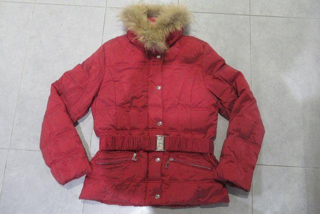 Biba kurtka damska puchowa zimowa z futerkiem naturalnym