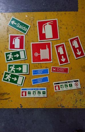 Placas sinalização