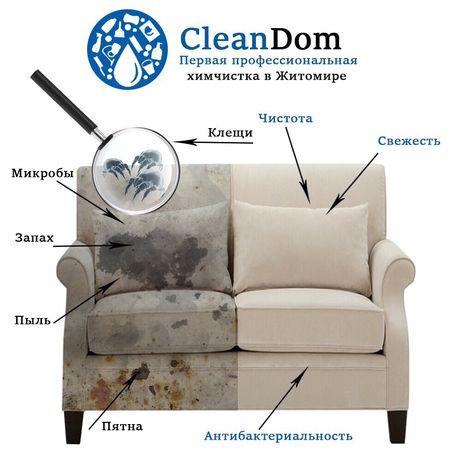 Первая профессиональная химчистка мягкой мебели в Житомире