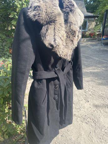 Натуральное пальто с мехом