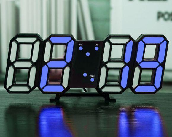 Настольные часы с термометром и будильником