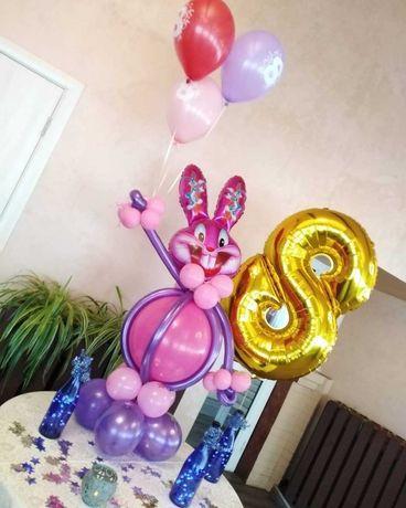 игрушка заец из шариков, микки, том. шарики с гелием, фотозоны