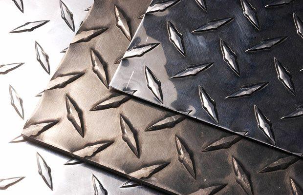 Лист алюминий рифленный, алюминиевый листовой квинтет, с насечками