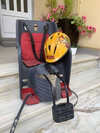 Cadeira porta-bébé/criança para Bicicleta + OFERTA Capacete