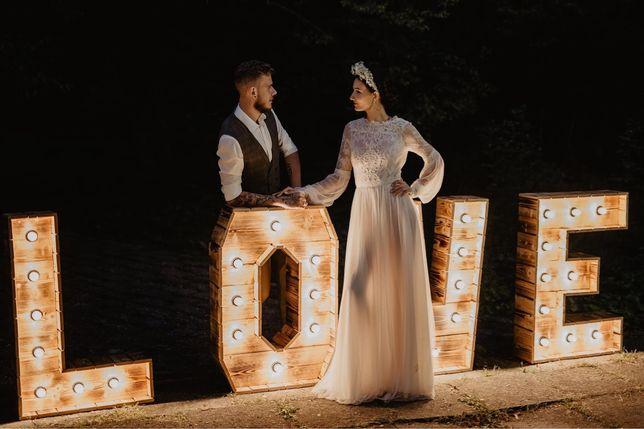 Napis Love na wesele! Wynajem/ 200 zł