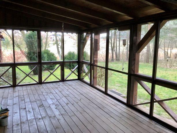 Zabudowa tarasu, balkonu, okna przesuwane, przesuwne, ogród zimowy