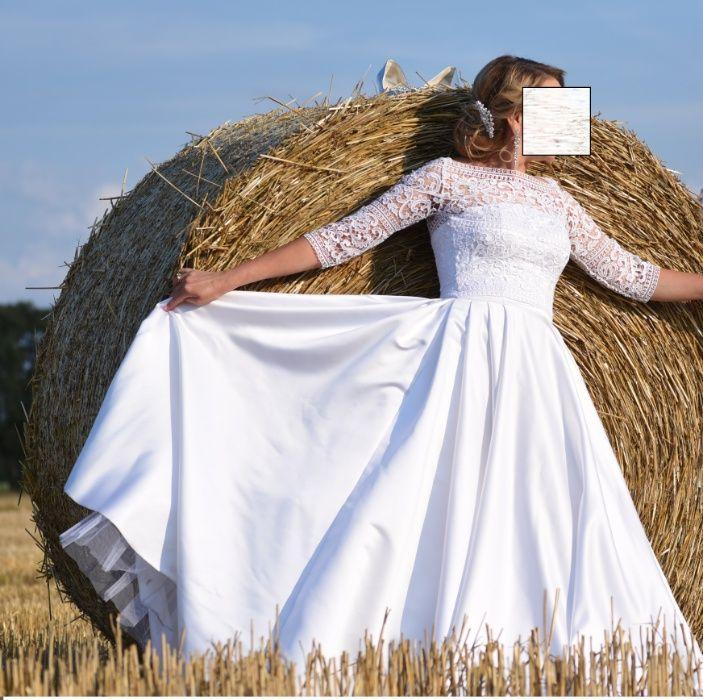 Suknia ślubna mikado