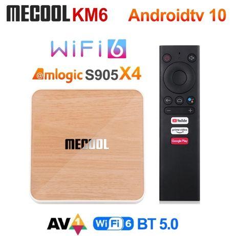 Mecool KM6 Deluxe 4GB/32GB (S905X4) Смарт тв-приставка Android TV 10