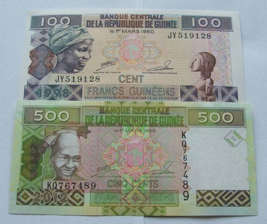 Banknoty GWINEA - Z PACZKI BANKOWEJ - Zestaw Kolekcjonerski