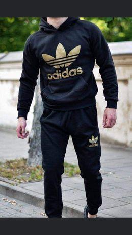 Komplet męski z logo Adidas czarno złoty M-XXL!!!