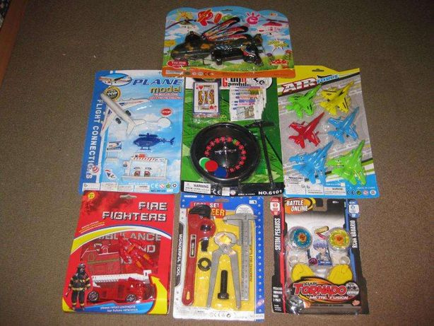 7 Brinquedos para Menino/Novos e Embalados!