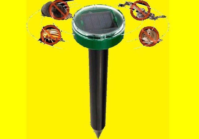Отпугиватель кротов грызунов насекомых на солнечной батарее