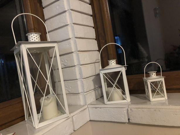 Komplet lampionów razem z nowymi świecami