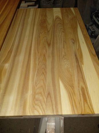 Parapety drewniane, schody, blaty