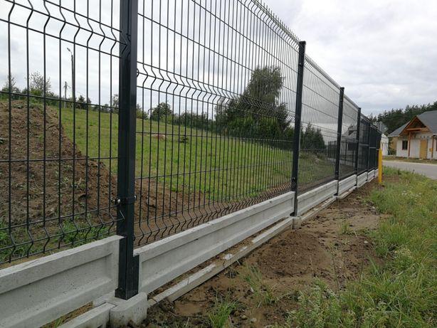 Ogrodzenie Panelowe Fi 4 ocynk+RAL 150cm+20cm Kompletny metr bieżacy