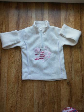 Polarowa bluza dla dziewczynki