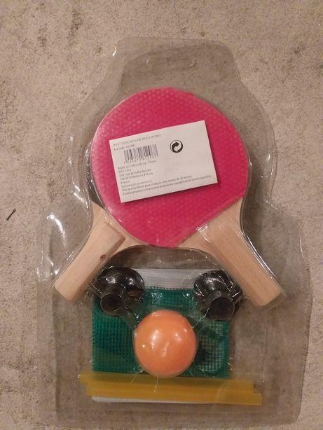 Conjunto de ping pong mini com bolas e rede