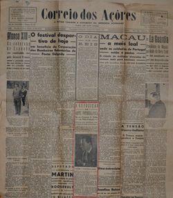 Correio dos Açores - jornal