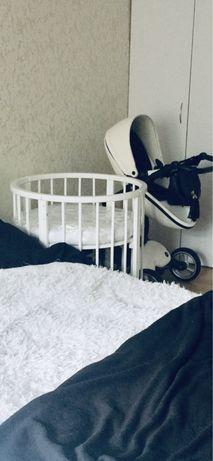 Кроватка детская круглая 7в1