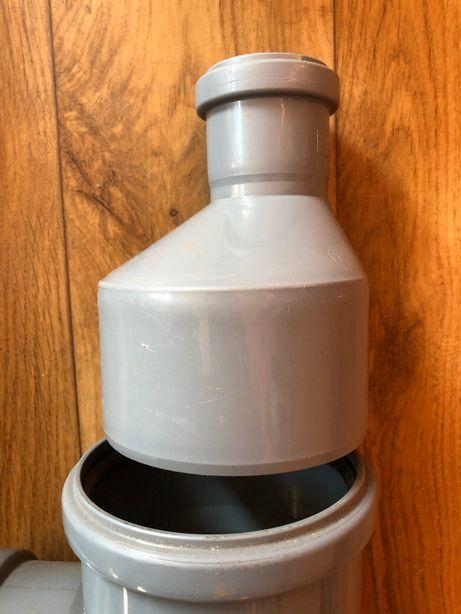 Redukcja PCV 50/100 mm , zwężka przejściówka