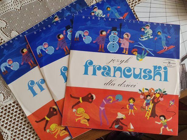 Plyty winylowe do nauki języka francuskiego