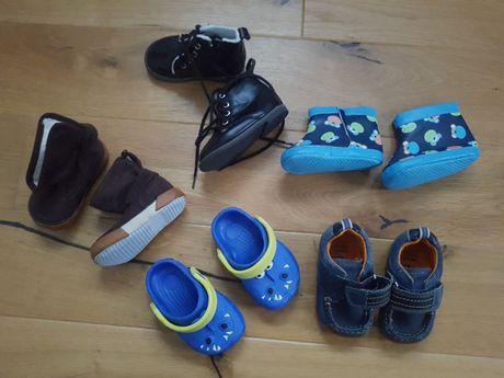 Zestaw 5 par bucików niechodki dla chłopca nowe