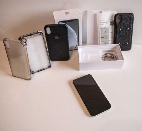 iPhone XR Branco Livre 64gb (Caixa + Acessórios) • como novo