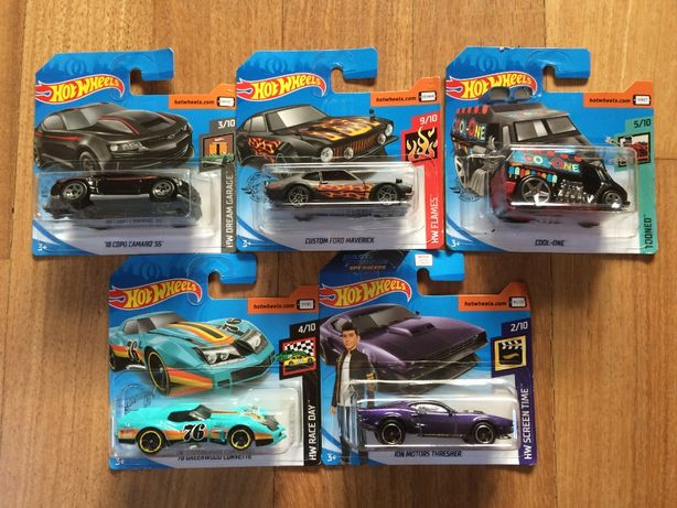 Hot Wheels Chevy Chevrolet Corvette Camaro Ford autka resoraki zabawki
