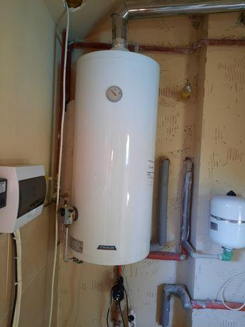 Boiler gazowy, pojemnościowy podgrzewacz wody cwu 120 litrów