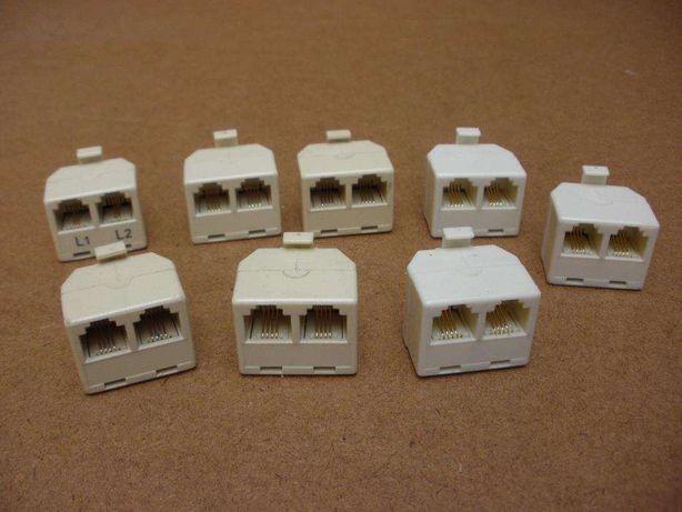 8 Adaptadores RJ11 - macho / 2 fêmeas