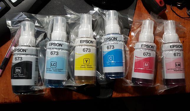 Оригинальные чернила 6 цветов, Epson L800, L805, L850, R290, T50, P50